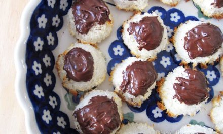 Chocolate Topped Coconut Macaroons