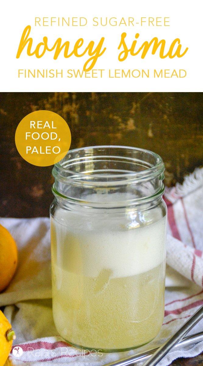 Paleo Honey Sima #paleo #realfood #glutenfree #dairyfree #refinedsugarfree #drinks #healthydrinks #mead #sima #honey #lemon #frementedfood #traditionalfood