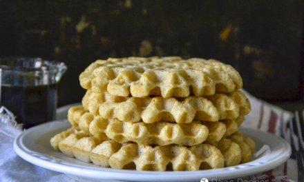 Overnight Almond Oatmeal Waffles