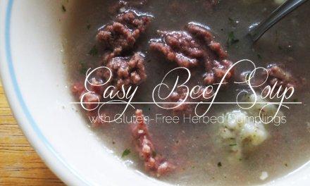 Easy Beef Soup with Herbed Dumplings