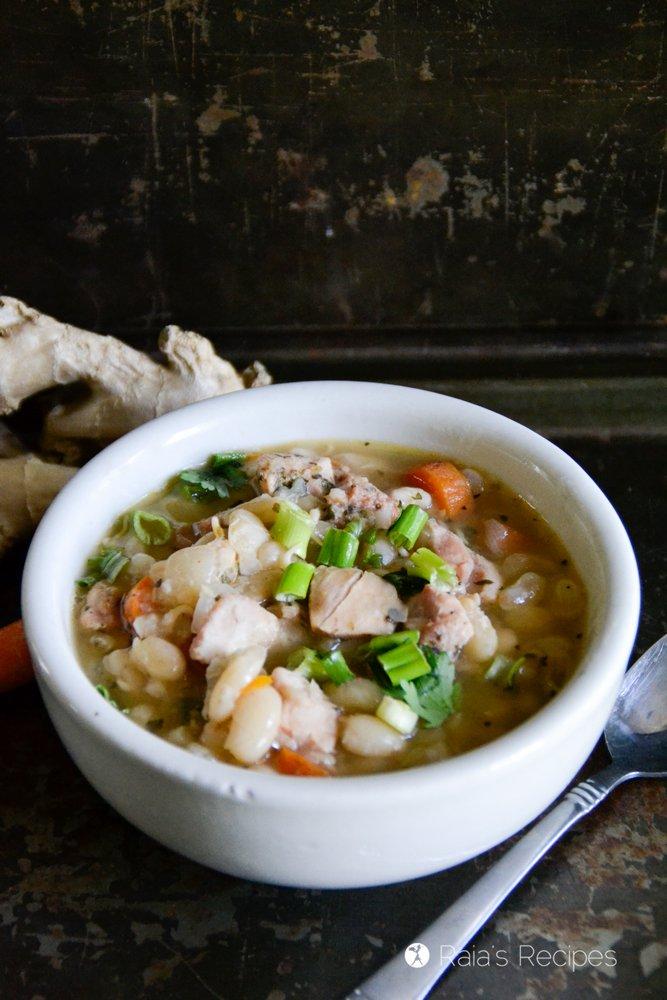 Ginger, White Bean & Chicken Soup 5