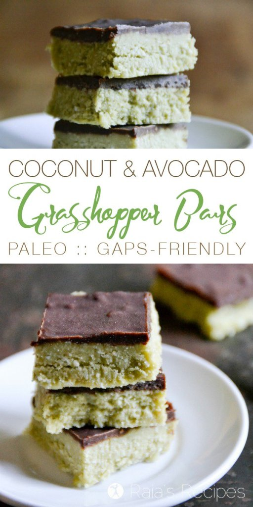 These Coconut & Avocado Grasshopper Bars are allergy-friendly andfull of healthy, real-food deliciousness. And they're completely devoid of grasshoppers...