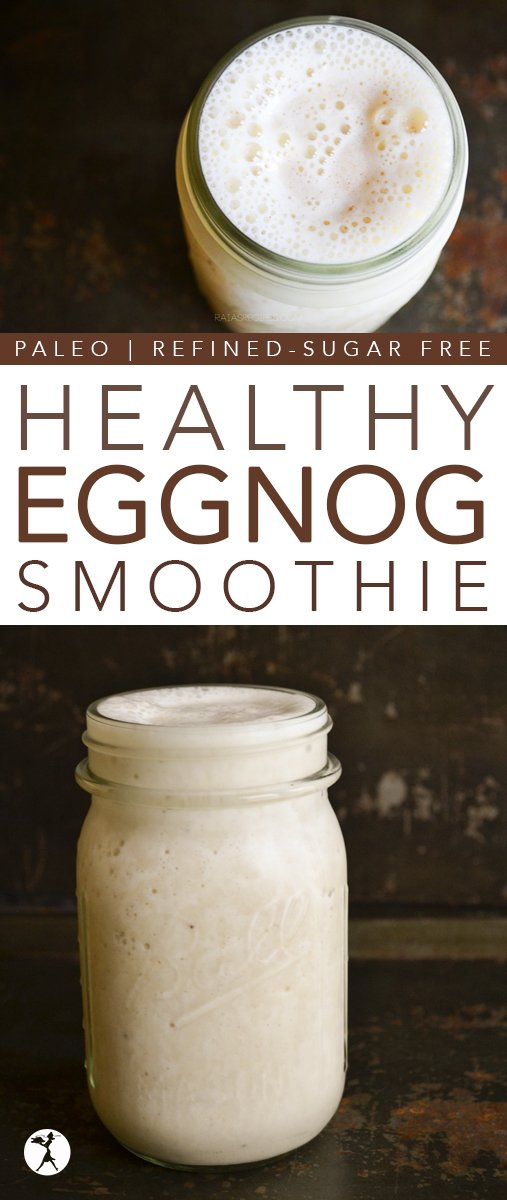 Dessert or breakfast? You choose with this delicious and nutritious paleo and GAPS-friendly Healthy Eggnog Smoothie!