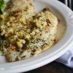 Garlic & Dill Baked Flounder in Browned Butter