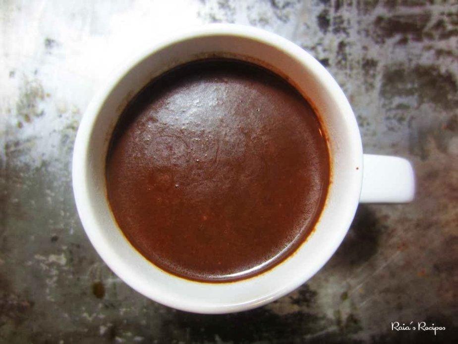 Quick Fix Dark Hot Chocolate Shots   RaiasRecipes.com