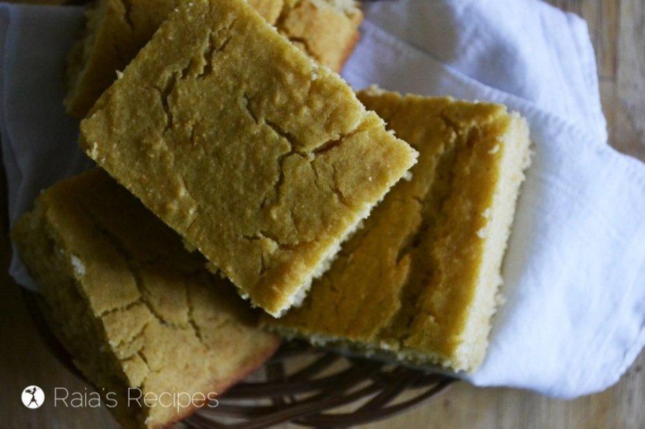 Gluten-Free Buttermilk Cornbread   RaiasRecipes.com