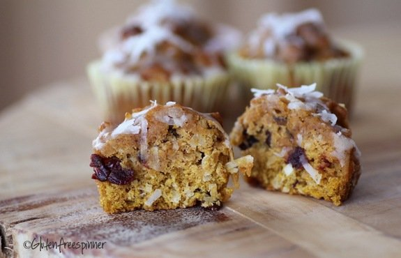 Pumpkin Sunrise Muffins from Gluten-Free Easily & the Gluten-Free Spinner