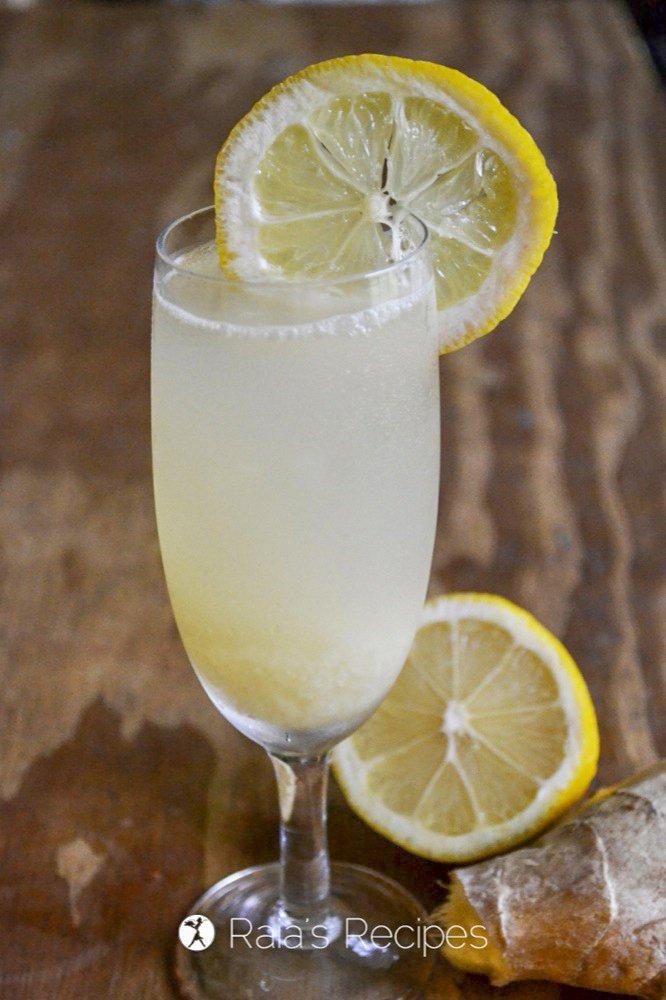Fizzy Ginger Lemonade profile side