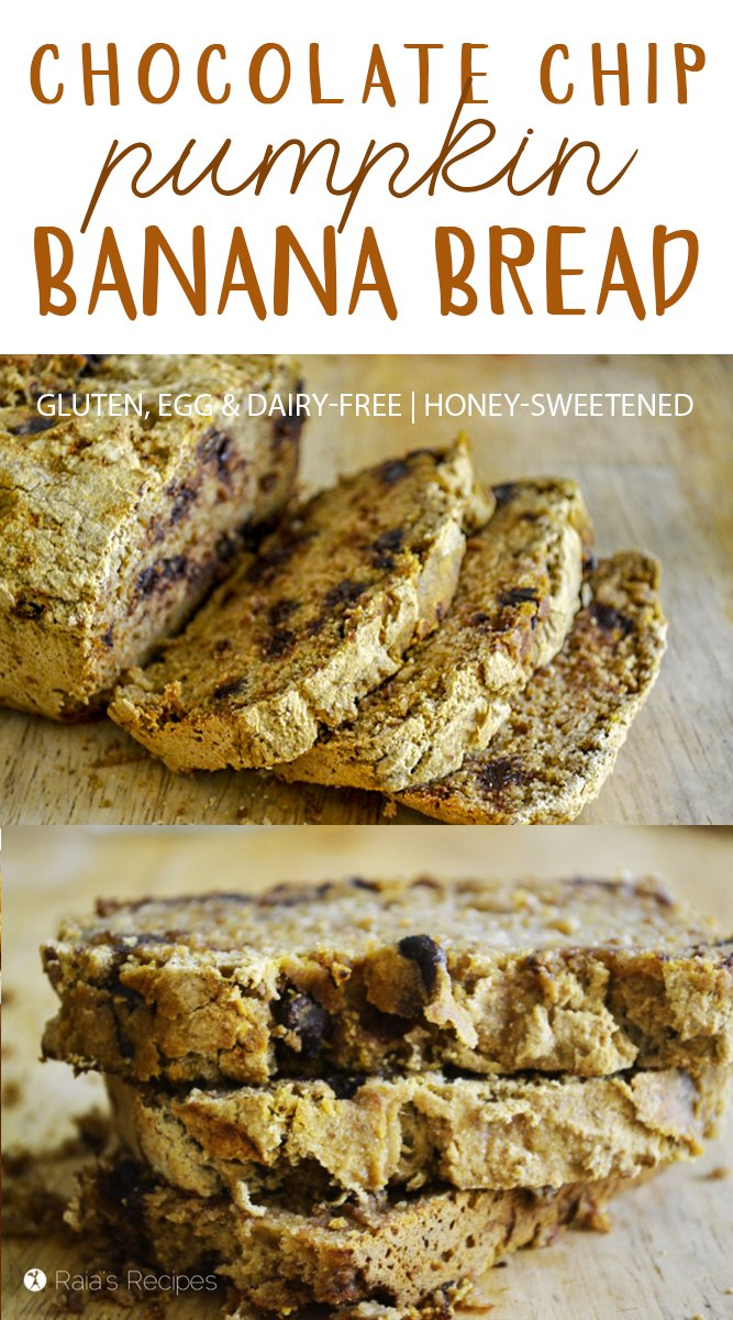 This easy, allergy-friendly Chocolate Chip Pumpkin Banana Bread is the perfect treat to satisfy your pumpkin and chocolate cravings!