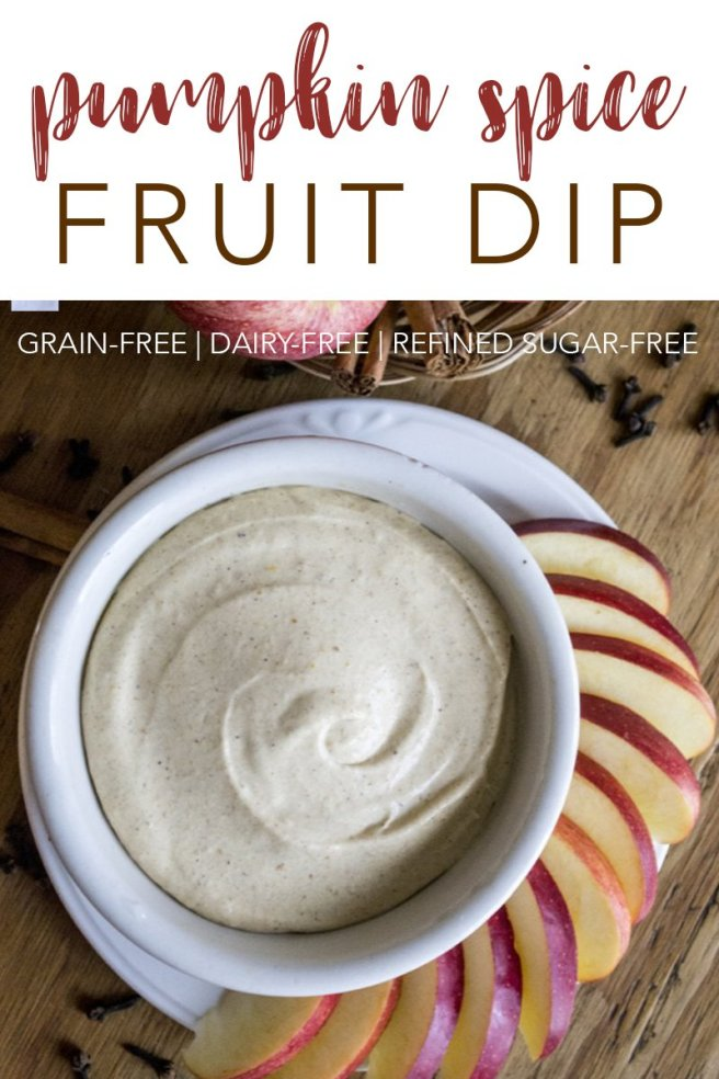 Whether you're looking for an appetizer, snack, or lunch, this dairy and refined-sugar freePumpkin Spice Fruit Dip is a delicious treat!