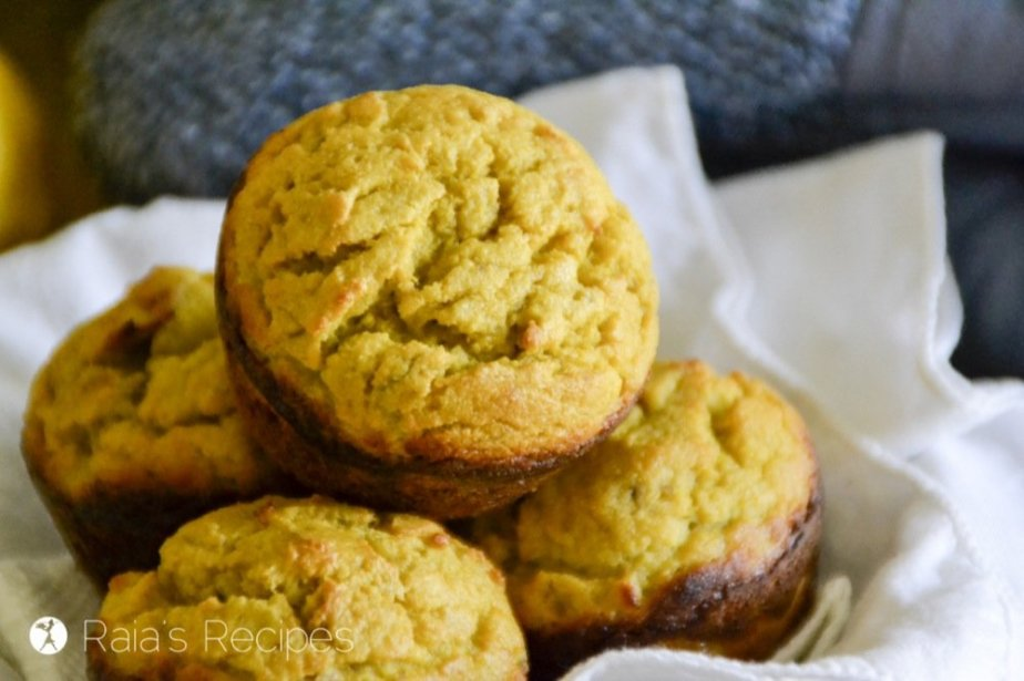 Grain Free Banana Lemon Muffins | RaiasRecipes.com