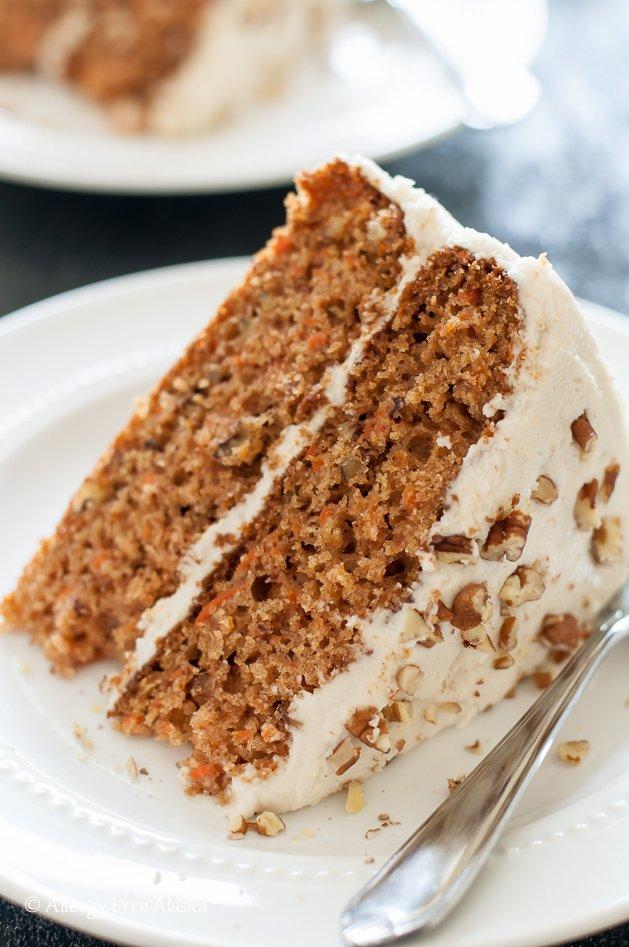 Decadent Carrot Cake from Allergy Free Alaska at Allergy Free Thursdays Weekly Gluten-Free Linky Party | RaiasRecipes.com