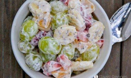 Simple Fruit Salad with Chia and Yogurt