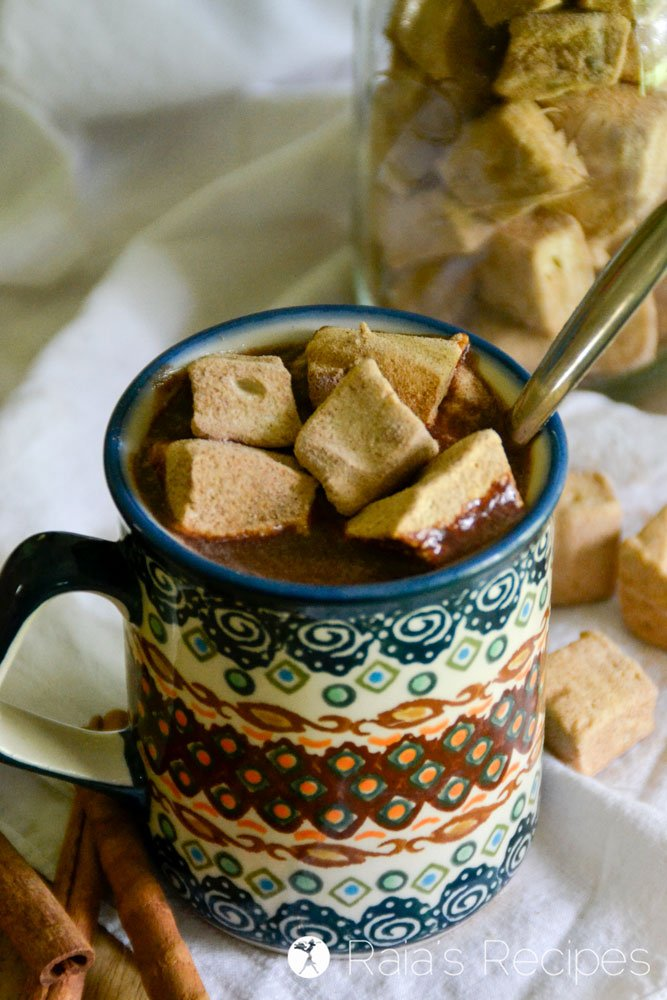 Perfect for hot cocoa, or just a healthy treat, these real food Mini Cinnamon Maple Marshmallows are a fun twist on a homemade favorite.