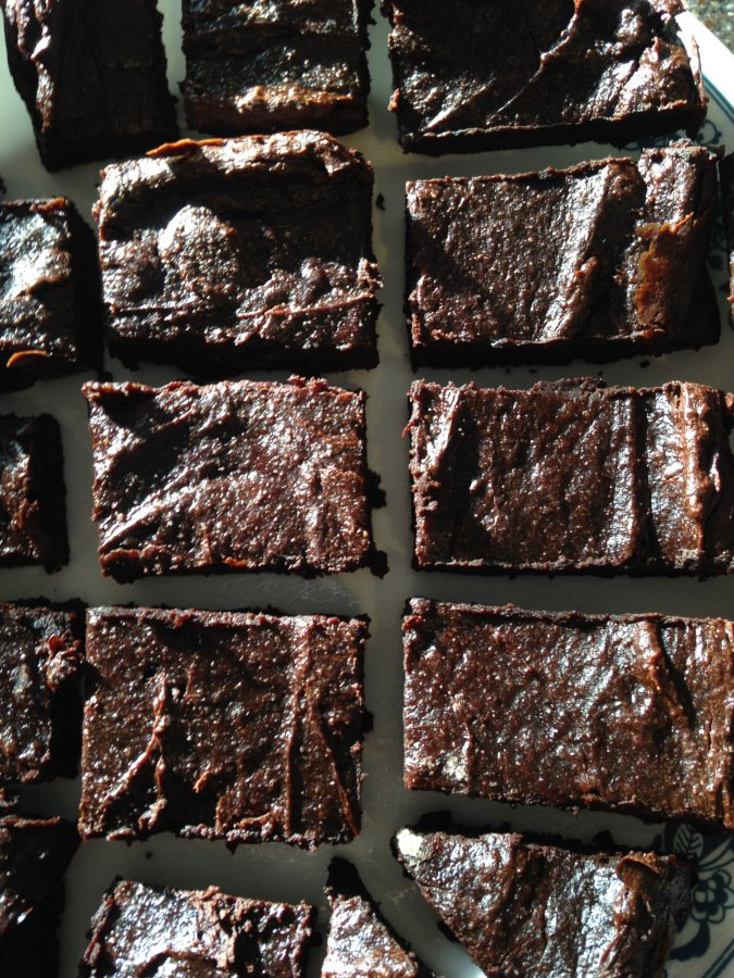 Fudgy Avocado Brownies from Aluminum Foiled Kitchen