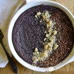 Personal Pan Dark Chocolate Paleo Breakfast Brownie