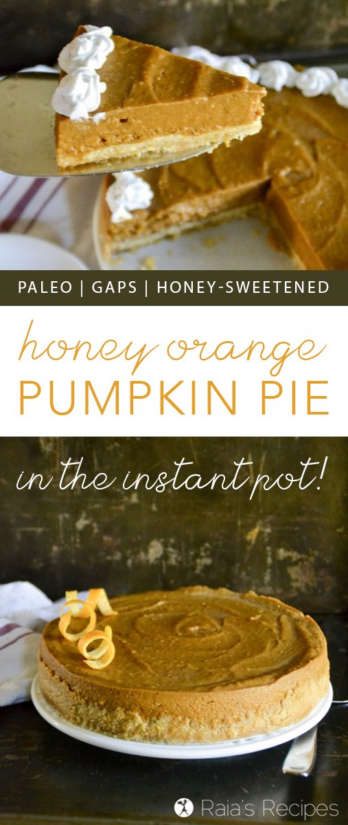 Tired of the traditional holiday pies? Shake things up with this paleo and GAPS-friendlyHoney Orange Pumpkin Pie in the Instant Pot! You won't regret it!