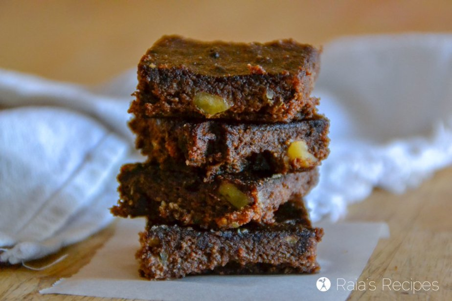 Fudgy and healthy, these Banana Walnut Carob Brownies are a delicious paleo treat even chocolate-lovers will enjoy!