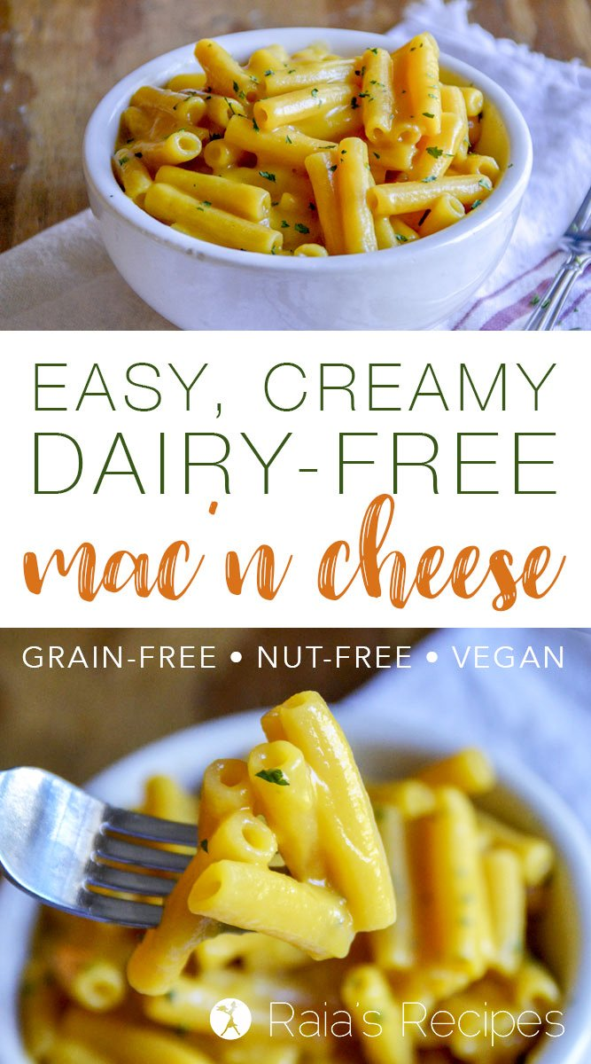 Dairy-free? Vegan? Missing mac 'n cheese? ThisEasy, Creamy Dairy-Free Macaroni and Cheese is what you need! It's so good, you'll cry... Haha! #macncheese #macaroniandcheese #dairyfree #glutenfree #eggfree #vegan #grainfree #realfood #nutfree #veggies #primal