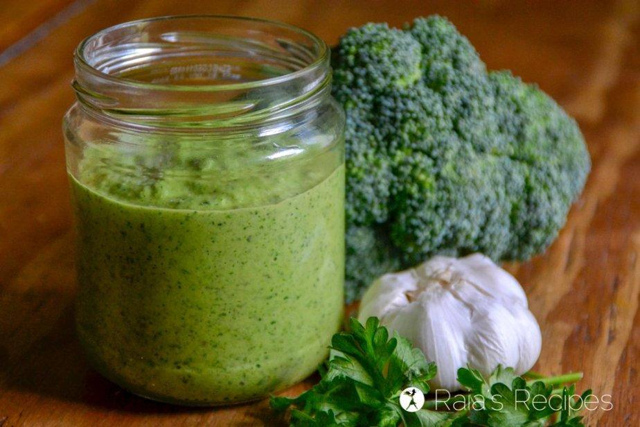 Broccoli Chimichurri Sauce layout