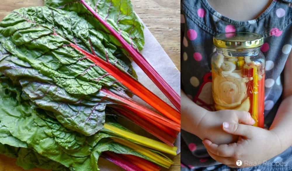 Lacto-Fermented Rainbow Chard