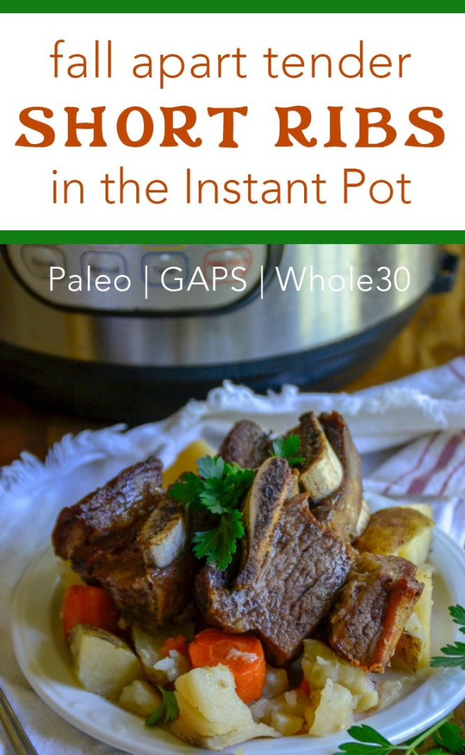 No need to stress about prep with these easy and delicious Fall Apart Tender Short Ribs in the Instant Pot! Plus they're Whole30, paleo, and GAPS-friendly, too.