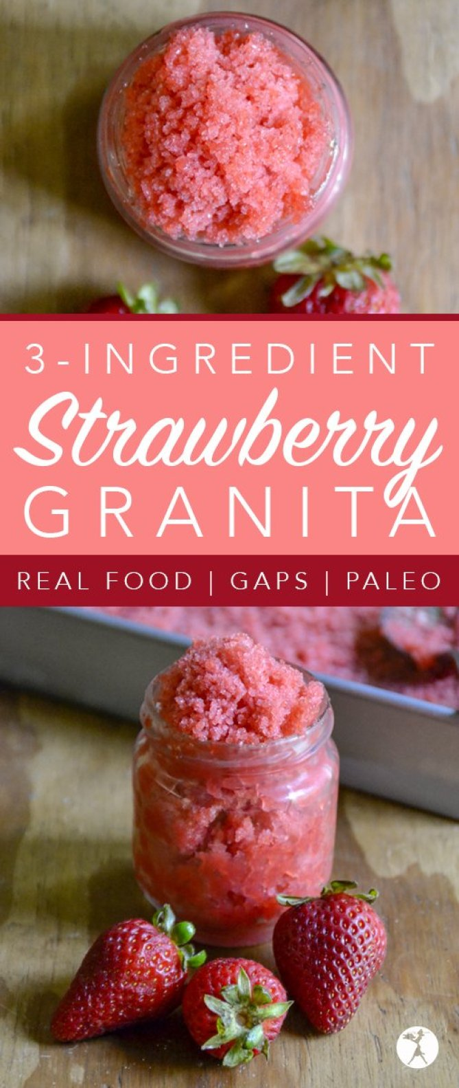 With only three ingredients, and no fancy equipment required, you're sure to enjoy this melt-in-your-mouth paleo Strawberry Granita!