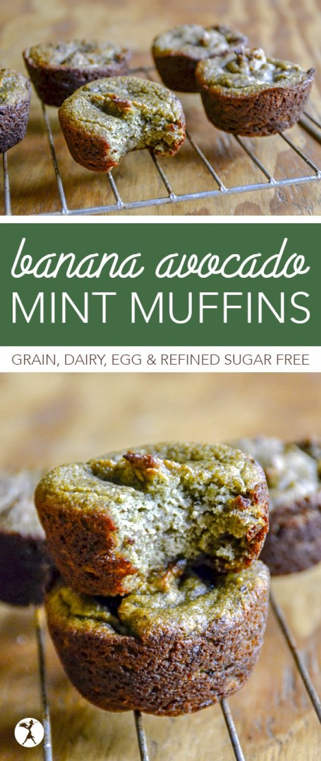 Full of vitamins, minerals, and healthy fats, these paleo and GAPSBanana Avocado Mint Muffins are healthy enough for breakfast, but delicious enough for a treat!
