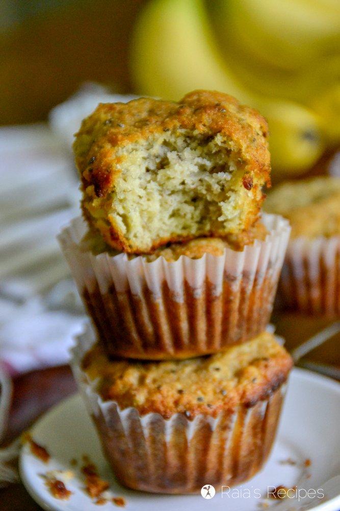 Banana Lemon Chia Seed Muffins 1