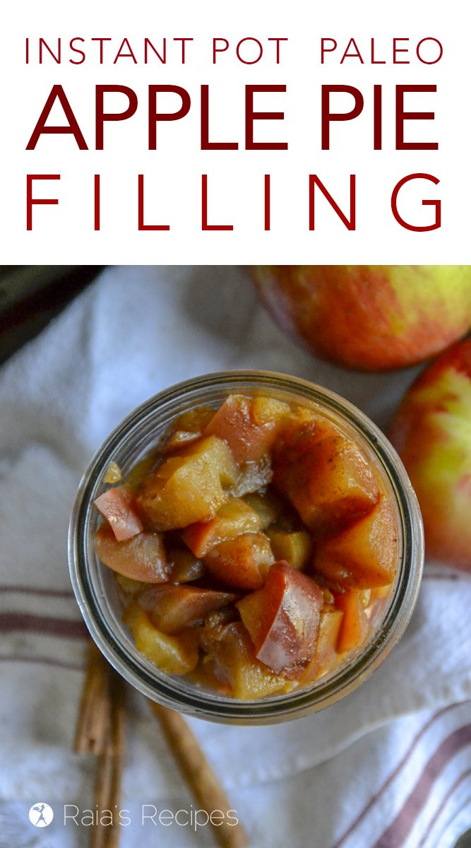 This Instant Pot Paleo Apple Pie Filling is full of dreamy, delicious fall flavors. Don't have a pie crust handy? Just get a spoon and dig in!