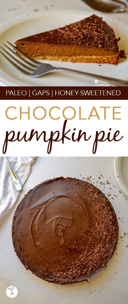 Love pumpkin pie? How about chocolate? This Chocolate Pumpkin Pie is for you. It's paleo and GAPS-friendly, and perfect for holiday get-togethers.