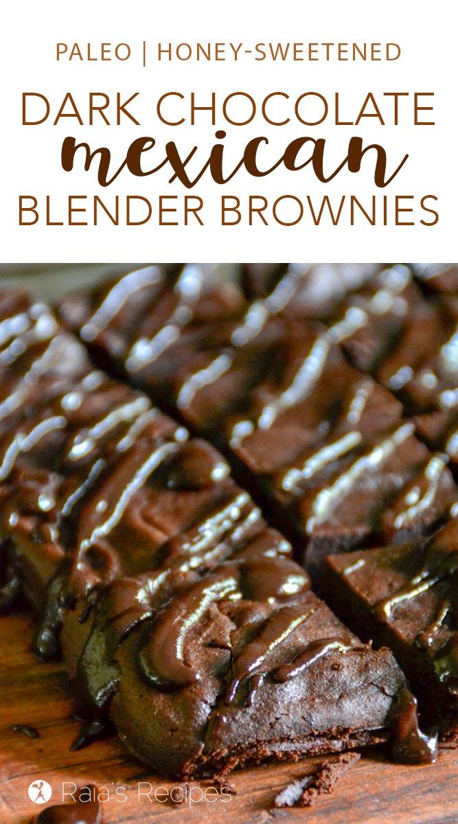 Dark Chocolate Mexican Blender Brownies #paleo #glutenfree #grainfree #dairyfree #brownies #darkchocolate #chocolate #blender #mexican #mexicanchocolate #healthytreats #dessert