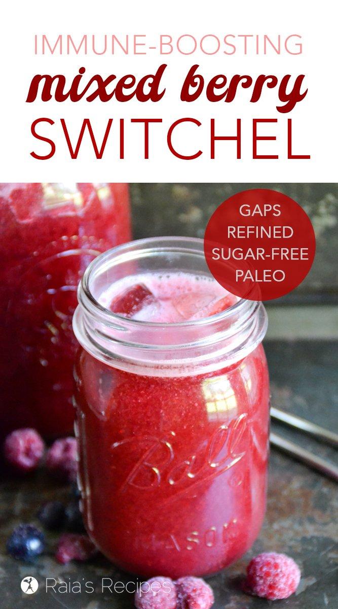 Immune-Boosting Mixed Berry Switchel #paleo #GAPSdiet #realfood #refinedsugarfree #dairyfree #grainfree #fermented #drinks #berries #summer #immuneboosting #healthydrinks