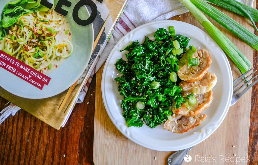 Paleo Teriyaki Chicken with Wilted Kale Salad