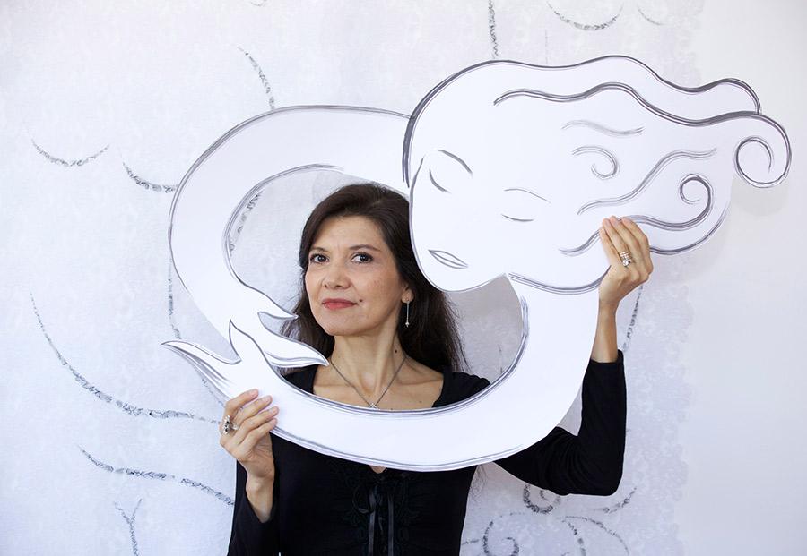 Andrea Arroyo en su estudio. Foto: Eugenio Castro