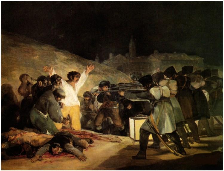 Francisco José de Goya y Lucientes Fuendetodos (1746) - Burdeos (1828). Los fusilamientos del 3 de mayo.