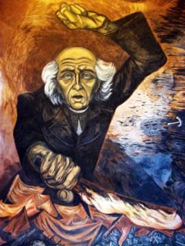 Miguel Hidalgo, fragmento del mural del Palacio de Gobierno de Jalisco, de José Clemente Orozco.