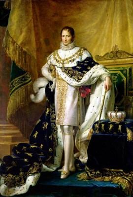 José Bonaparte como Rey de España, por François Gérard (c. 1808). Óleo sobre lienzo.
