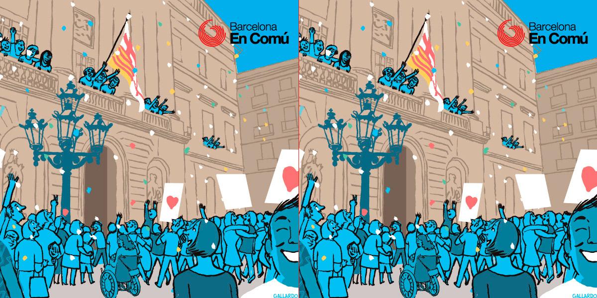 Barcelona En Comú muestra su solidaridad con el pueblo mexicano