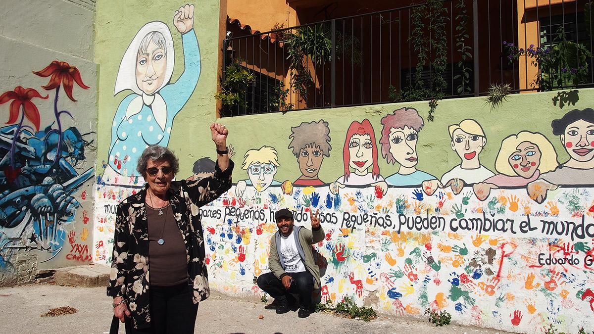 Delia Giovanola y Martín Ernesto Mozé en Barcelona. Foto: Sandra Vicente