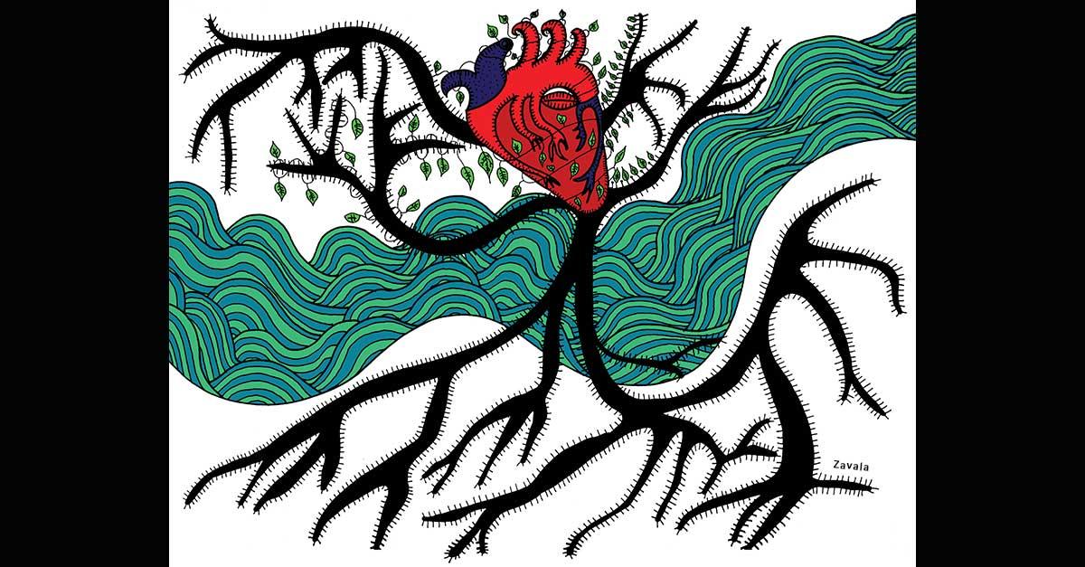 Ilustración: Entre dos tierras / Lola Zavala