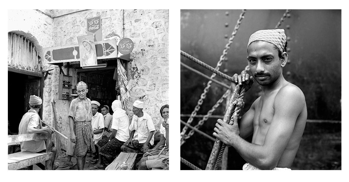 Izquierda: 10 de julio, 1959, Aden, Yemen. Derecha: 199, Kochi, India