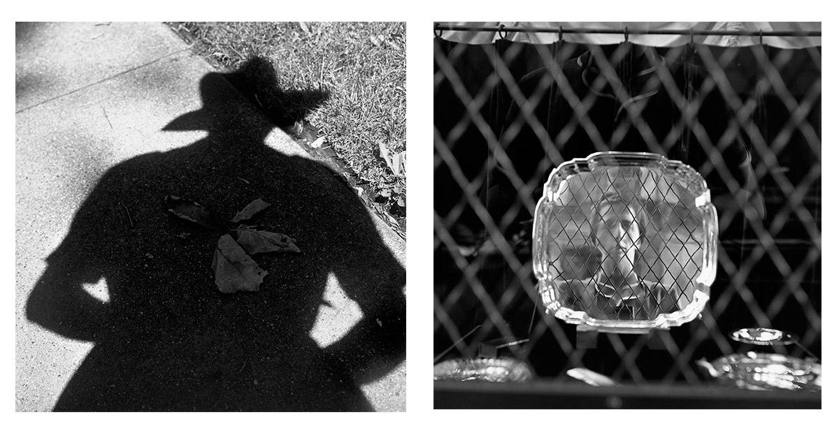 Autorretratos: Izquierda, sin fecha. Derecha, 1954