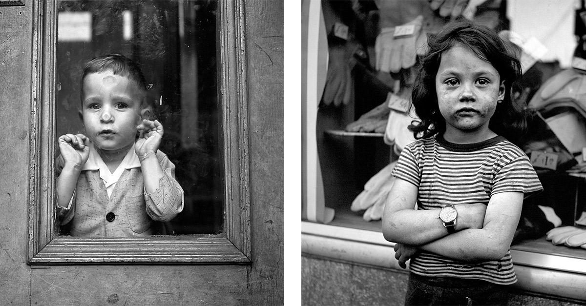 Fotos de la página de Vivian Maier. Izq. May 5, 1955. New York, NY. Derecha sin fecha,