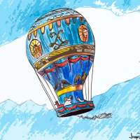 El primer globo tripulado