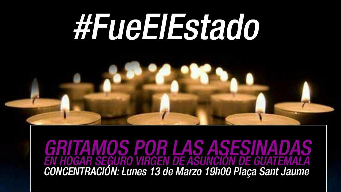 Concentración por las niñas asesinadas en Guatemala