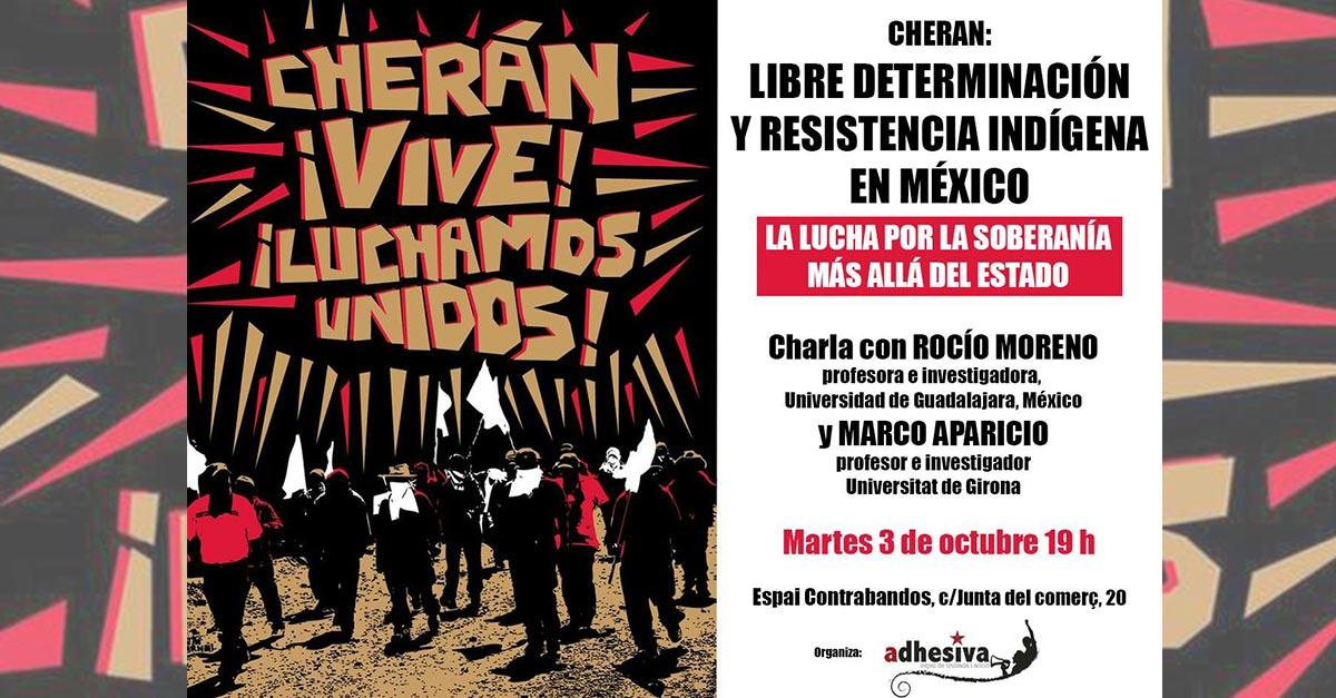 Charla: Cherán: libre determinación y resitencia indígena de México