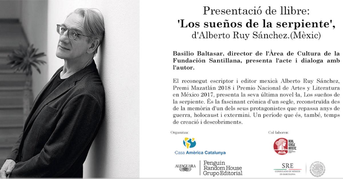 Libro: Los sueños de la serpiente / Alberto Ruy Sánchez (México)