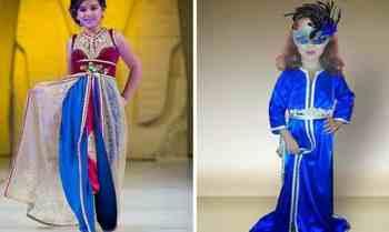 جديد موديلات القفطان المغربي للبنات الصغار