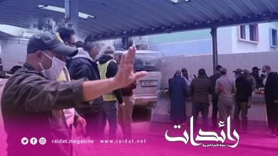 صورة منع دخول سوق بنديبان الى بشهادة الاستثناء لتخفيف من إصابة بالوباء